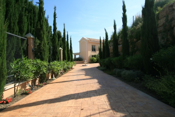 Approach to Villa
