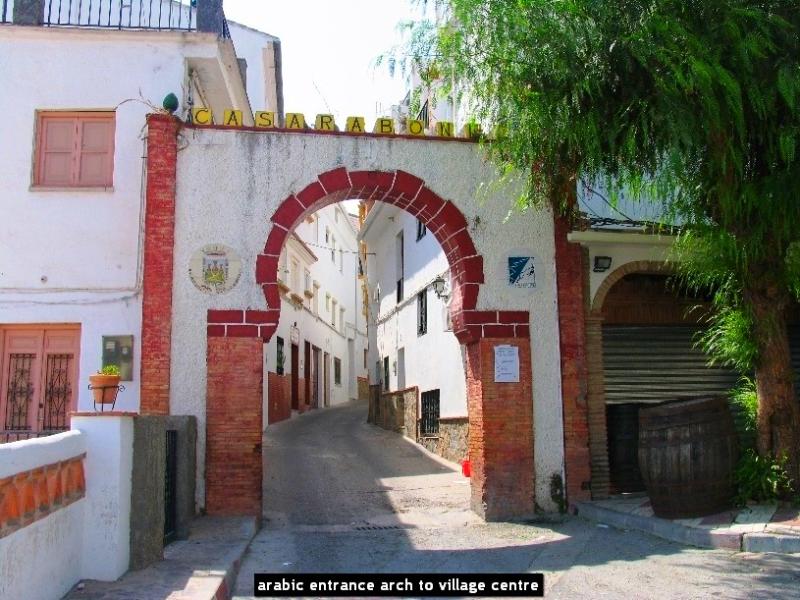 arabic entrance arch to village centre