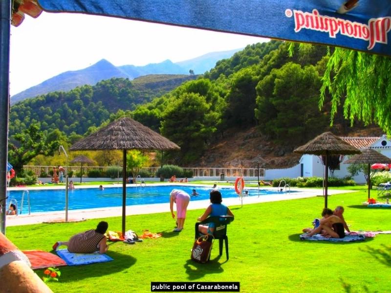 public pool of Casarabonela