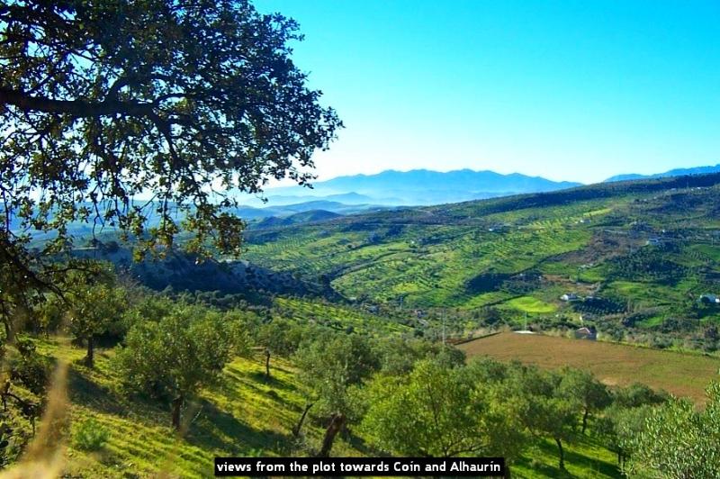 views from the plot towards Coín and Alhaurín