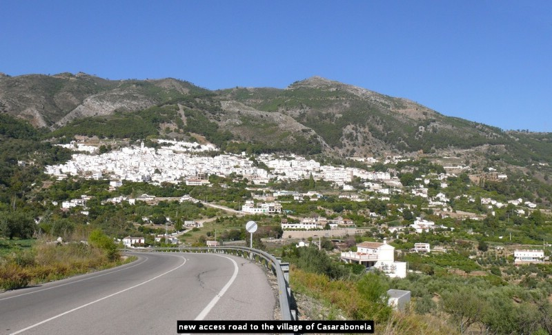 new access road to the village of Casarabonela