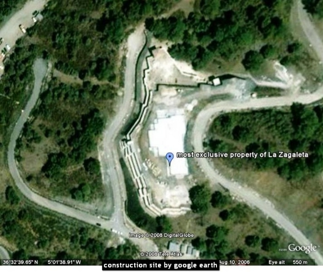 construction site by google earth
