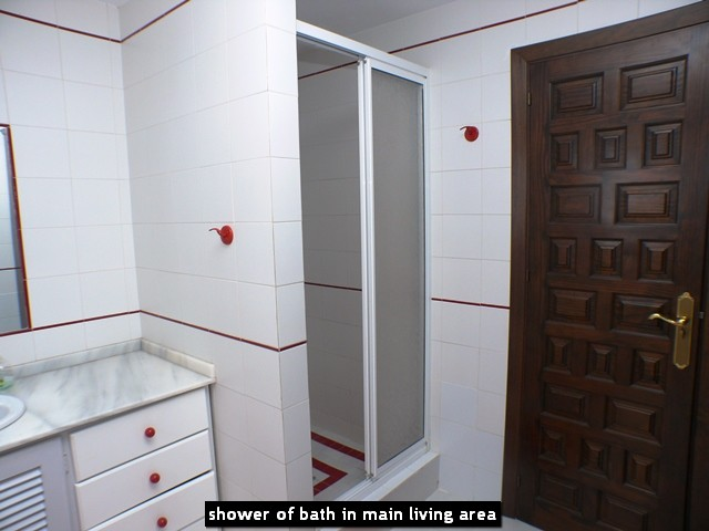 shower of bath in main living area