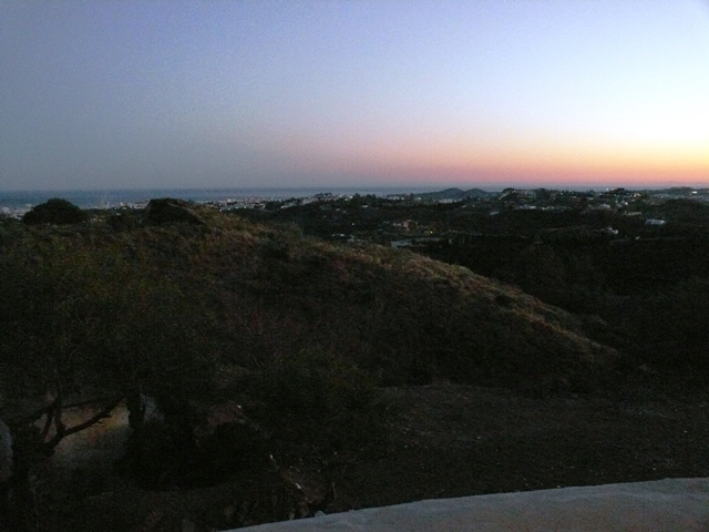 evening views towards the South to the sea