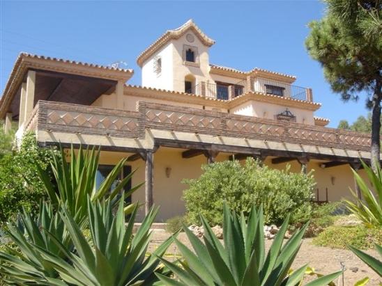 villa seen from lower garden