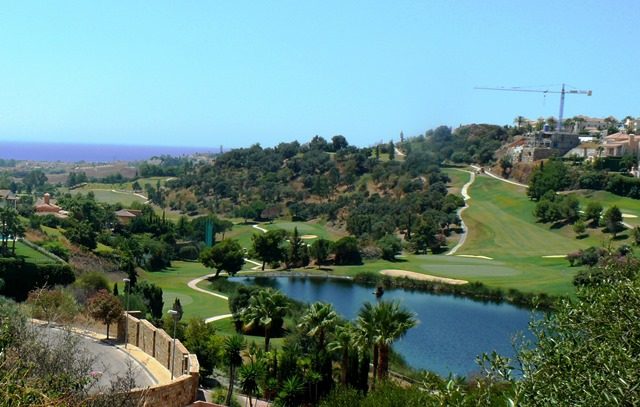 golf course with sea views