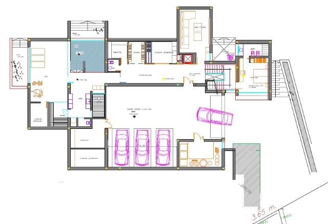basement modern villa