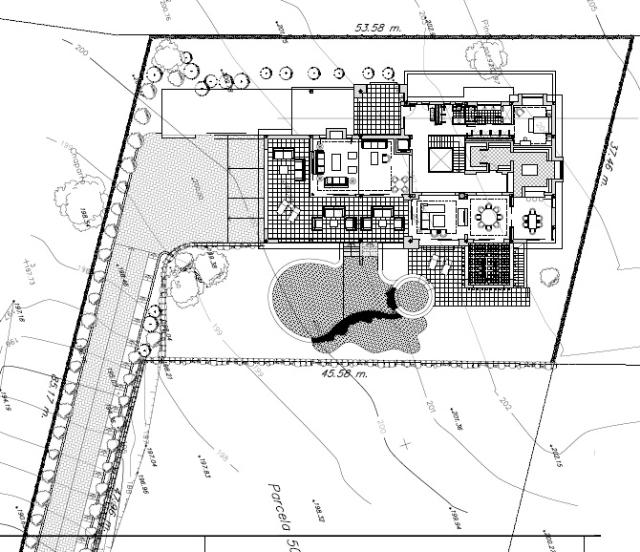 villa location on plot