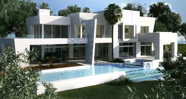 garden facade and pool