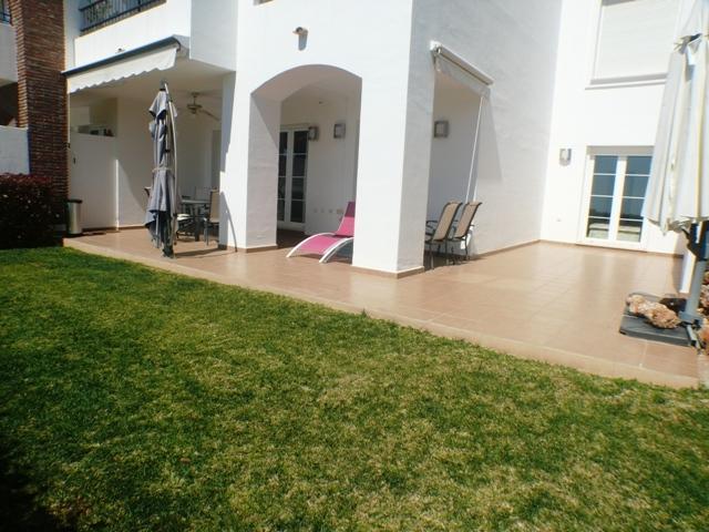 full terrace seen from garden