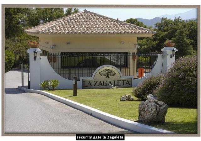 security gate la Zagaleta