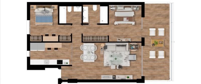 Plan_1_Pier_apartments_Sotogrande_2-ROOMS