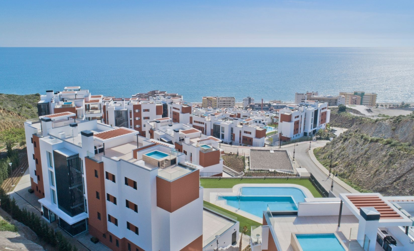 Complex with sea views