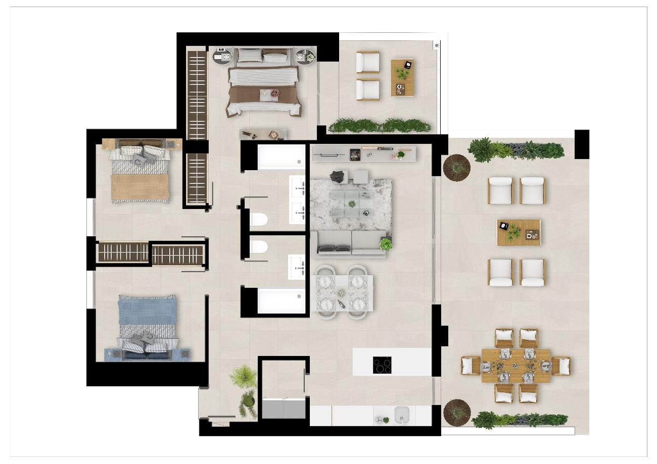 Floor plan 3 beds