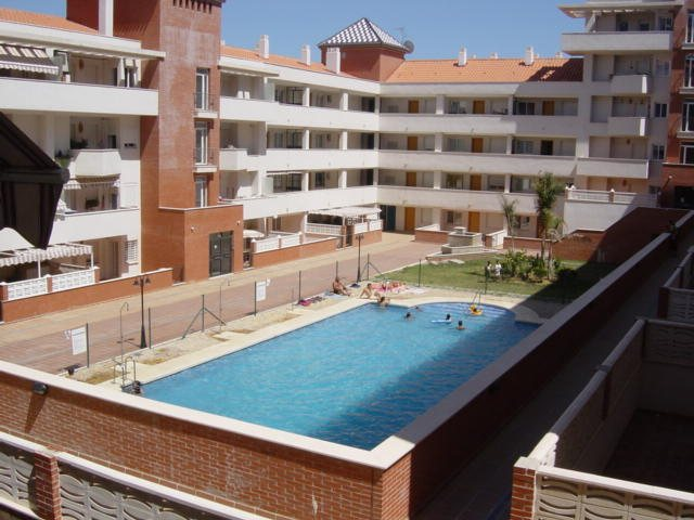 view from terrace to pool