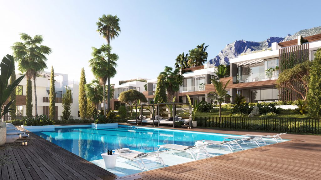 Luxusni nemovitost Marbella Sierra Blanca bazen
