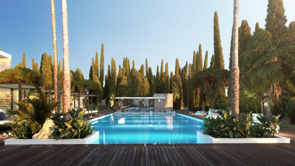 Luxusni nemovitosti Marbella bazen