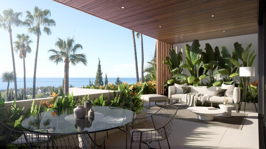 Luxusni nemovitost Marbella terasa s vyhledem