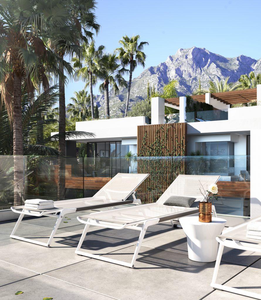 Luxusni rezidence Marbella terasa