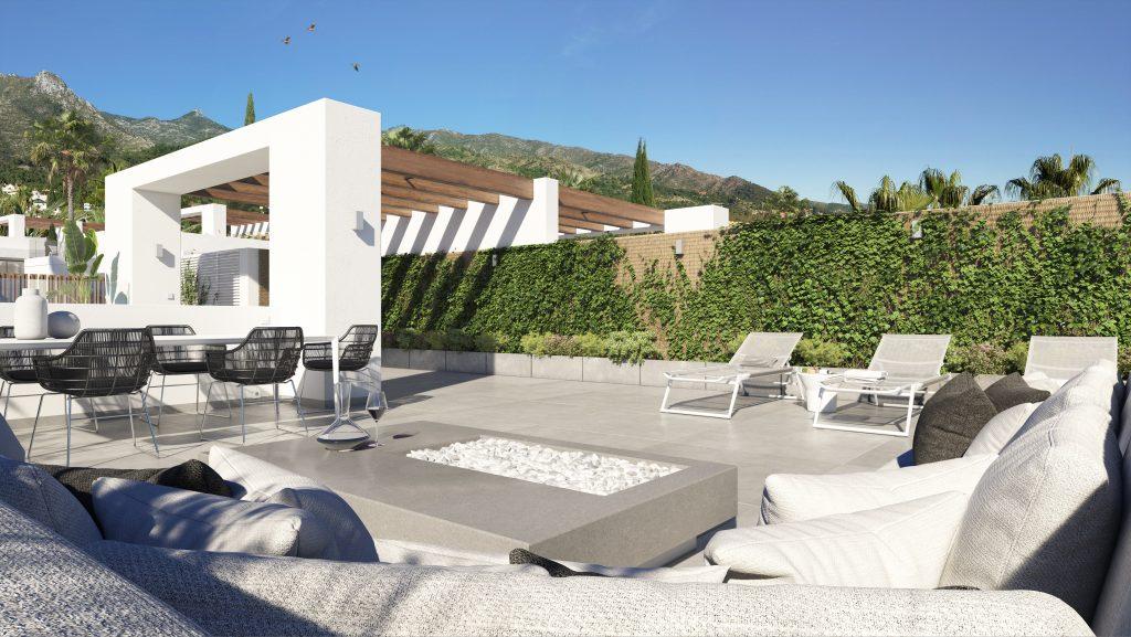 Luxusni vila Marbella stresni terasa