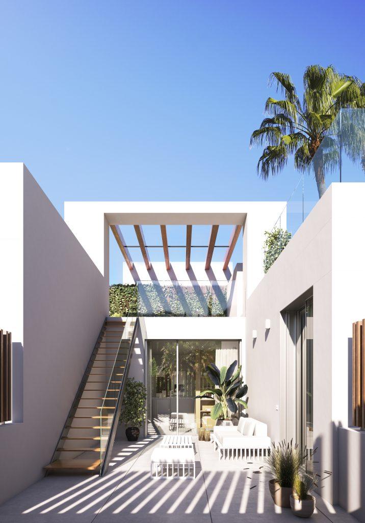 Luxusni vila projekt pohled stresni terasa