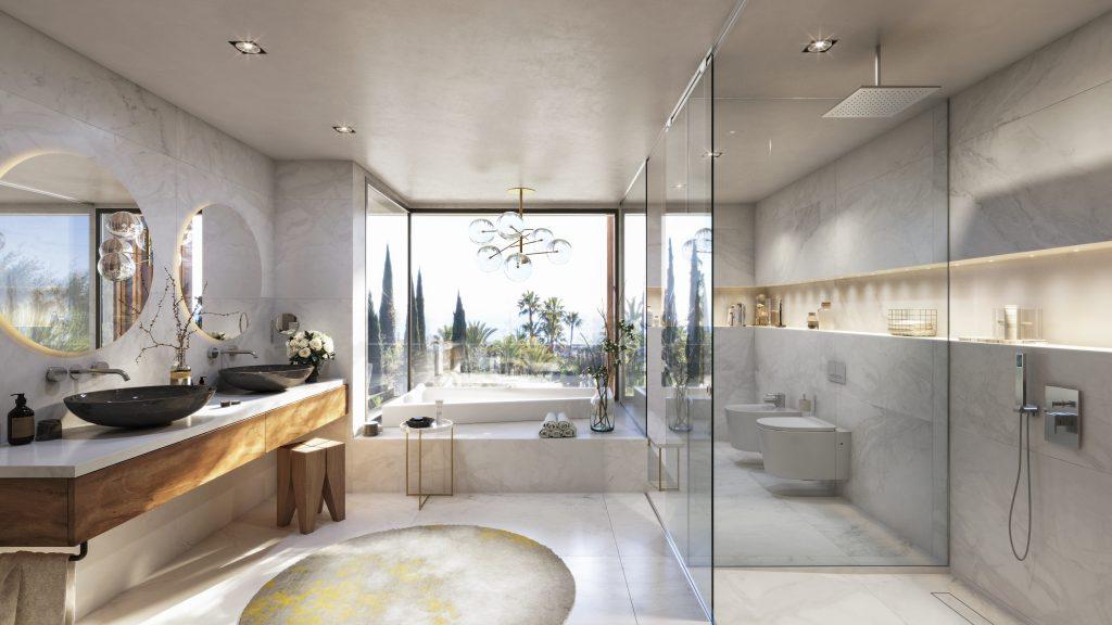 Luxusni bydleni Costa del Sol interier design koupelna