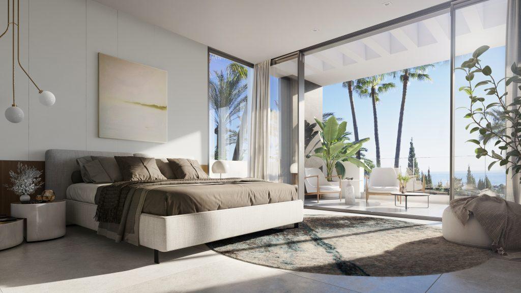 Marbella interier design vila u more loznice