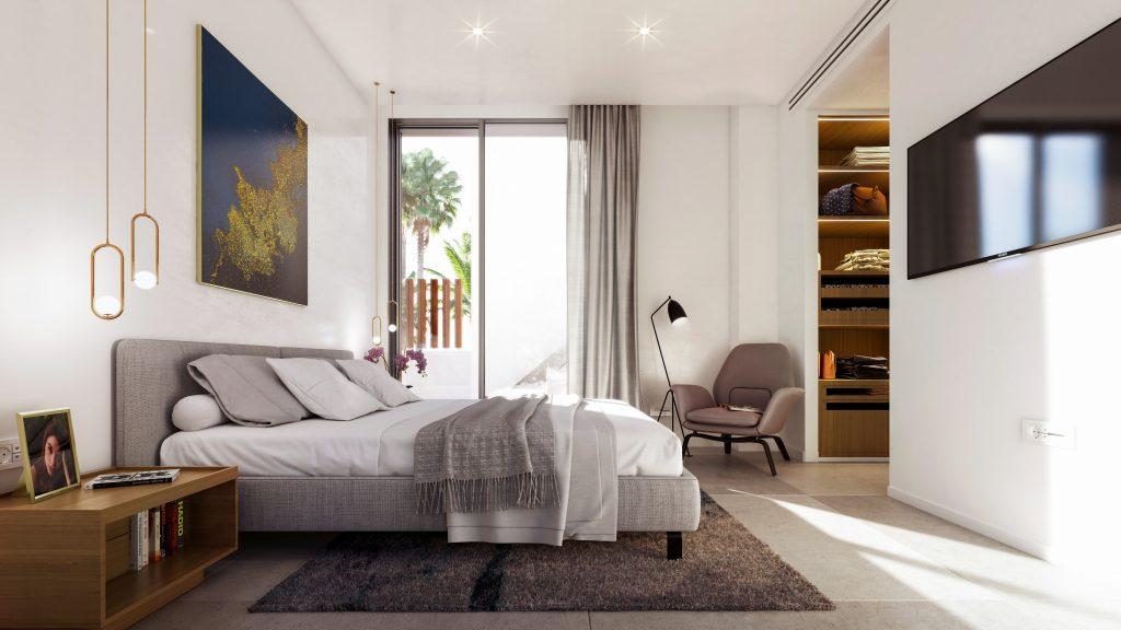 Luxusni vila u more Marbella interier design loznice