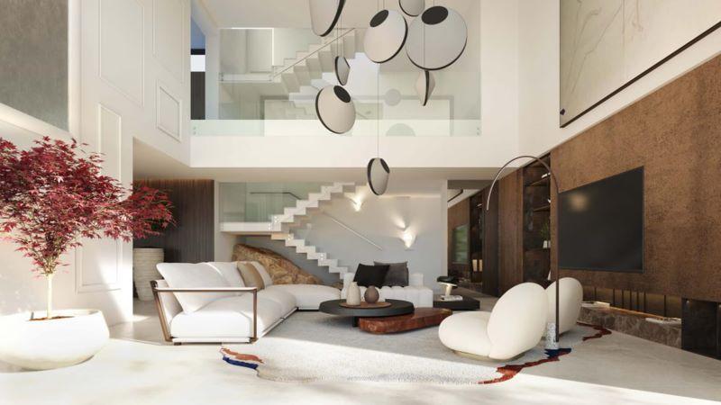 Moderni interier vila u more
