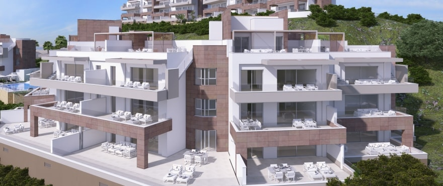 La Cala de Mijas,Malaga,2 Bedrooms Bedrooms,2 BathroomsBathrooms,Apartment,BYZAAP1090