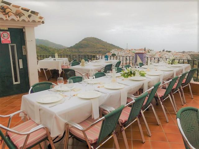 Bigger celebrations table roof terrace