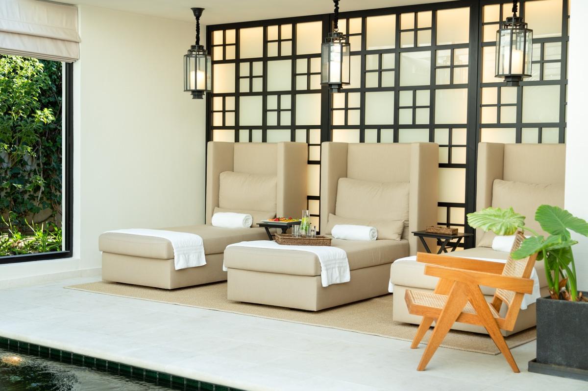 indoor pool lounger